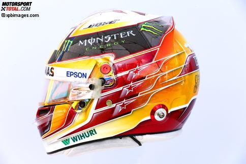 Lewis Hamilton (#44, Mercedes): Der Brite mit den drei Sternen auf dem Helm - die Zahl seiner bisher errungenen WM-Titel.