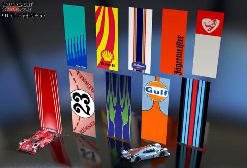 Porsche hat die Langstreckenszene in der traditionsreichen Geschichte mit zahlreichen Design-Varianten geprägt. Nicht alle waren dem Corporate Design eines Sponsors geschuldet.