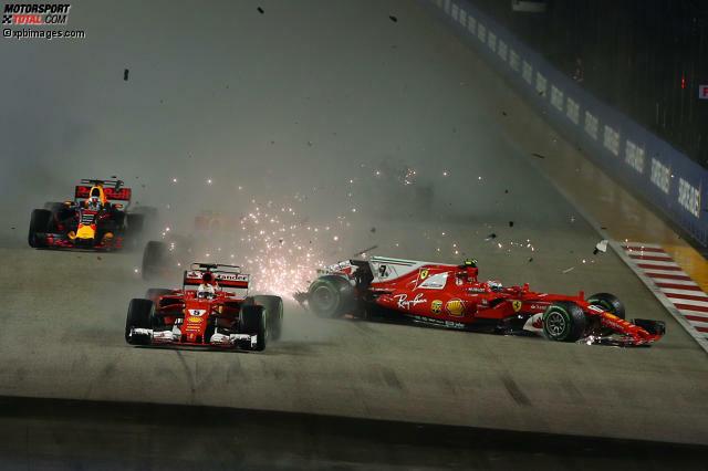 Nach dem Startcrash in Singapur steht Sebastian Vettel mit dem Rücken zur Wand. 28 Punkte liegt er nun hinter Lewis Hamilton. Wie realistisch sind seine Titelchancen in der Formel-1-Saison 2017 jetzt noch? Wir schauen uns die sechs verbleibenden Rennen des Jahres einmal ganz genau an und wagen eine Prognose.