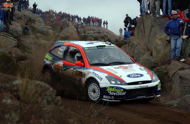 Rallye Argentinien 2002: Carlos Sainz (Ford) gewinnt 4,0 Sekunden vor Petter Solberg (Subaru).