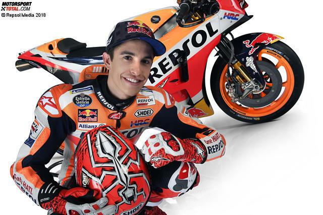 Marc Marquez wird am 17. Februar 1993 in Cervera (Spanien) geboren. Im Alter von 20 Jahren gewinnt er als jüngster Fahrer in der Geschichte der Königsklasse seinen ersten MotoGP-Titel.