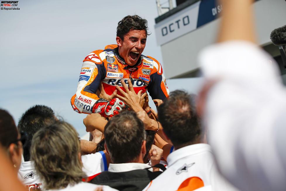 Er hat es wieder geschafft: Zum sechsten Mal in seiner siebten MotoGP-Saison gewinnt Marc Marquez den WM-Titel in der Königsklasse. Doch wie hat dieser Triumphzug begonnen? Eine Reise in die Vergangenheit ...