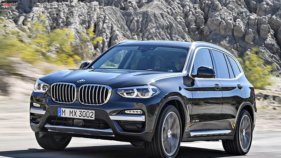 Platz 10: BMW X3: Unsere Top Ten der beliebtesten Rentnerautos startet mit dem BMW X3. Bislang betrug der Anteil von Besitzern über 65 Jahre dort 17,9 Prozent. Ob der neue X3 (Bild) daran anknüpfen kann?