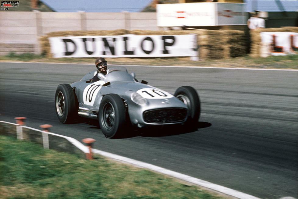 1955: Mercedes W196 - Fahrer: Juan Manuel Fangio, Karl Kling, Hans Herrmann, Stirling Moss, Andre Simon, Piero Taruffi