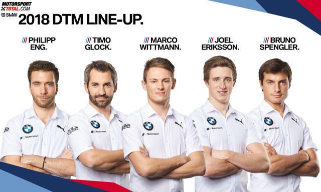 BMW hält an fünf von sechs Fahrern aus dem Vorjahr fest. Der Sechste ist ein junger Rookie ...