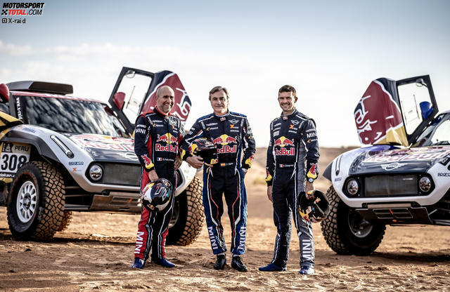 Stephane Peterhansel, Carlos Sainz und Cyril Despres