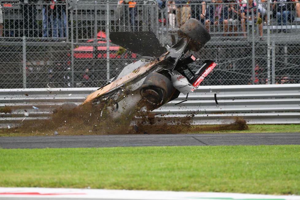 Marcus Ericsson erlebte im Freien Training von Monza einen wahren Horrorunfall.