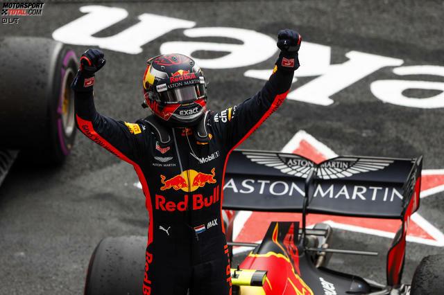 1. Max Verstappen - Letzter Sieg: Großer Preis von Mexiko 2018 für Red Bull