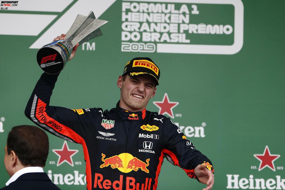 2. Max Verstappen - Letzter Sieg: Großer Preis von Brasilien 2019 für Red Bull