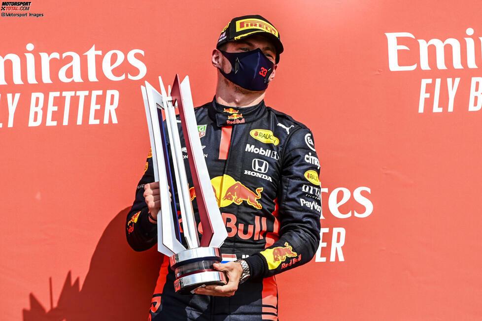 1. Max Verstappen - Letzter Sieg: Großer Preis zum Jubiläum 70 Jahre Formel 1 2020 für Red Bull