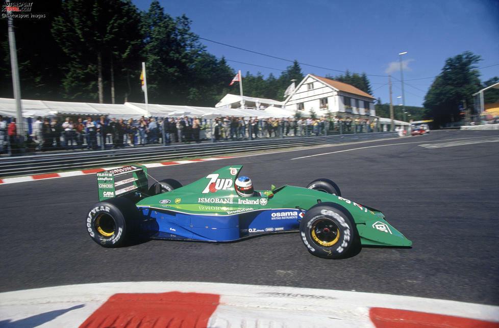 Das Team aus Silverstone, das heute Aston Martin heißt, begann 1991 unter dem Namen Jorden. Im Modell 191 fährt Michael Schumacher in Spa sein erstes Formel-1-Rennen.