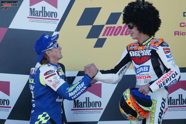 Platz 10: Valentino Rossi (2003, Honda) - 80 Punkte Vorsprung auf Sete Gibernau