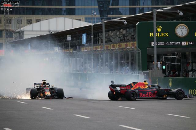 Max Verstappen (6): Darüber, dass er an der Kollision mehr Schuld trägt als Ricciardo, gibt es unserer Ansicht nach keine zwei Meinungen. Aber Verstappen ist generell angezählt. Das zeigte schon sein Crash am Freitag. Und gegen den Teamkollegen muss man sich nicht so mit der Brechstange wehren, wie er das getan hat.