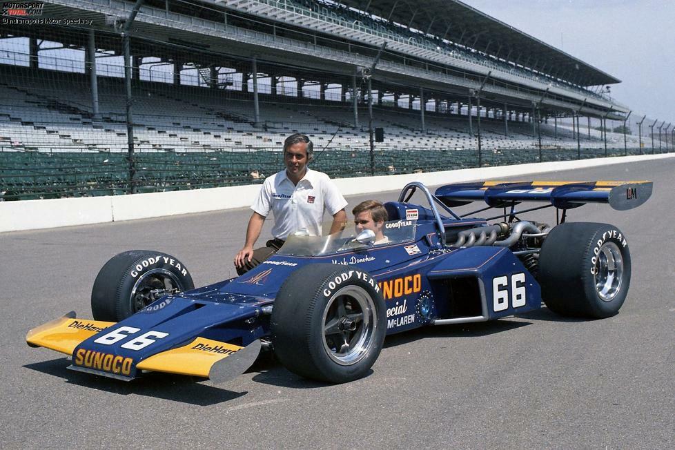 1972: Mark Donohue holt ersten Indy-Sieg für Penske.