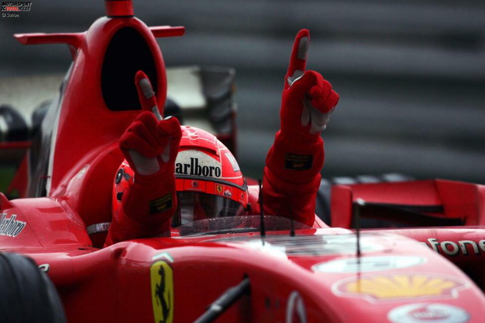1. Oktober 2006: Michael Schumacher gewinnt für Ferrari den Grand Prix von China in Schanghai. Was damals noch niemand ahnt: Der 91. Formel-1-Sieg sollte Schumachers letzter Erfolg werden. Am Jahresende tritt der erfolgreichste Fahrer aller Zeiten zurück. Wir erinnern mit Foto-Highlights an den letzten Schumi-Sieg!