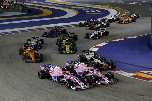 Sergio Perez (6): Diese Vorstellung ist nur mit zu viel Tequila zu erklären. Wie er Sirotkin reingefahren ist, hatte Züge von Vettels Rammstoß gegen Hamilton in Baku. Dafür muss er gesperrt werden! Auch gegen Ocon hat er nach außen gezuckt und den Teamkollegen so abgeschossen. Schade, denn in Sachen Speed war es ein top Wochenende!