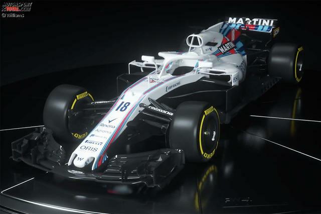 So sieht er also aus, der neue Williams FW 41, ...