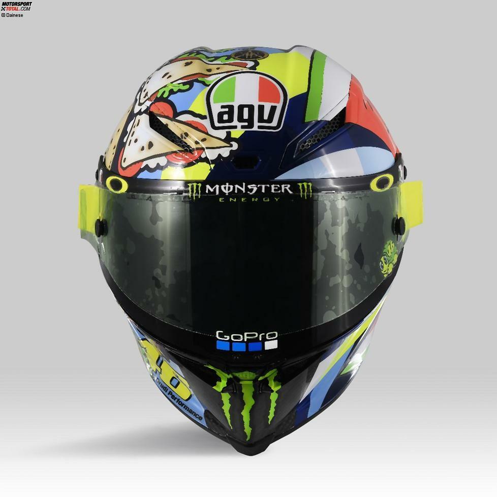 Das Spezieldesign von Valentino Rossis Helm für Misano 2019