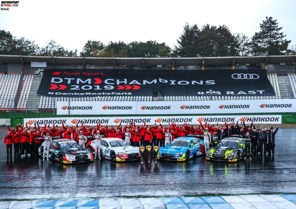 Schon vorzeitig sicherte sich Audi 2019 alle drei Titel in der Fahrer-, Hersteller- und Teammeisterschaft. Der Marke gelang damit in der DTM zum dritten Mal nach 2004 und 2017 das DTM-Triple.