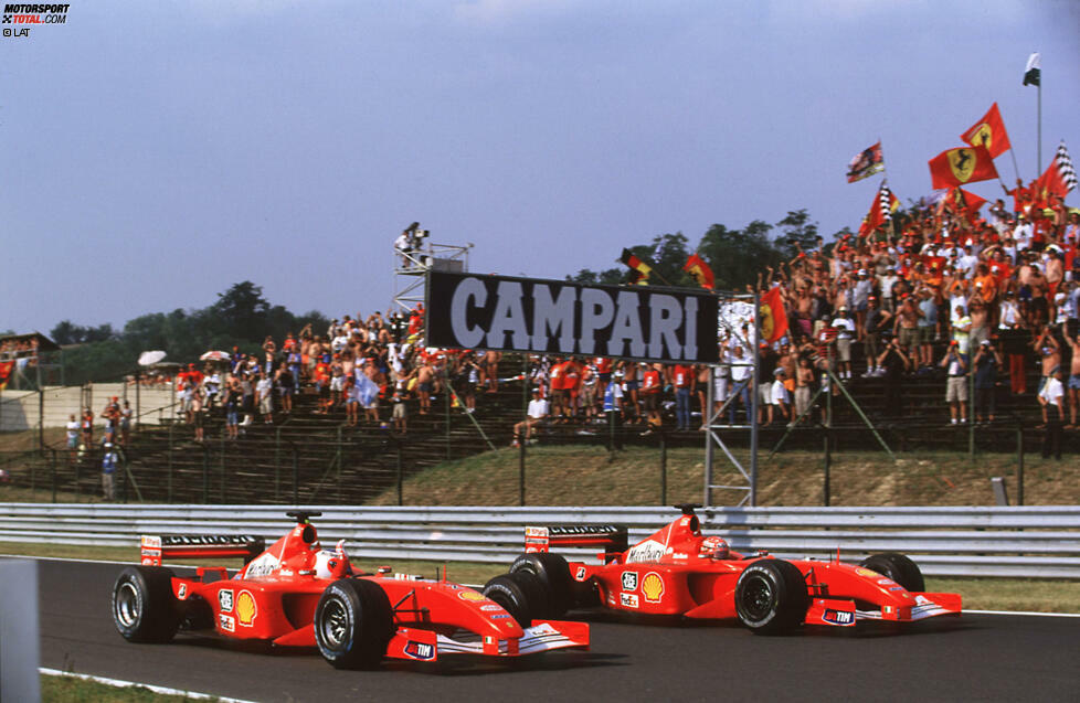Platz 10: 2001 - Rubens Barrichello (45,53 Prozent der Punkte von Michael Schumacher) - Nie ist der Unterschied zwischen den beiden bei Ferrari größer.