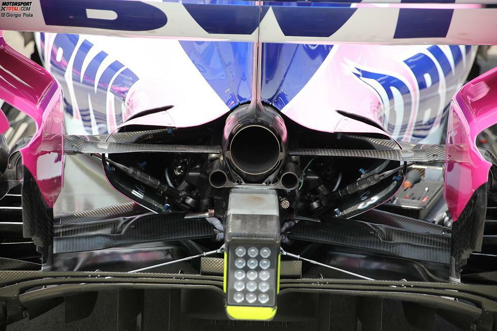 Racing Point RP19: Auspuff