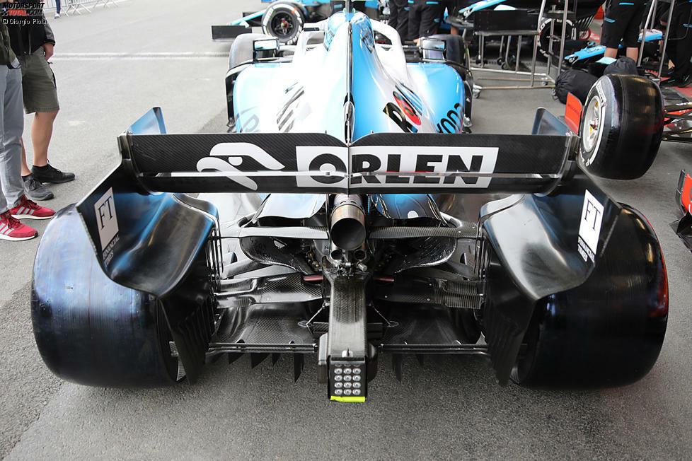 Williams FW42: Heckflügel und Diffusor