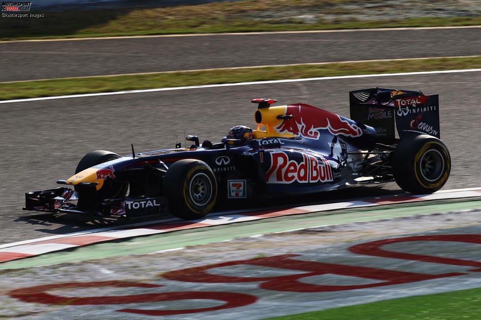 9. Japan 2011, Sebastian Vettel vor Jenson Button - 0,009 Sekunden: Der Red-Bull-Pilot sichert sich in einer dominanten Saison die nächste Pole hauchknapp vor Button. Auch hier gewinnt am Ende der geschlagene McLaren. Das dürfte Vettel jedoch wenig gejuckt haben: Rang drei reicht, um vorzeitig zum zweiten Mal Weltmeister zu werden.