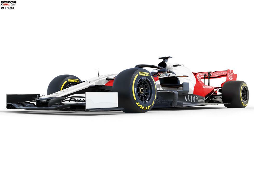 Der McLaren MCL34 in den Traditionsfarben Weiß und Rot