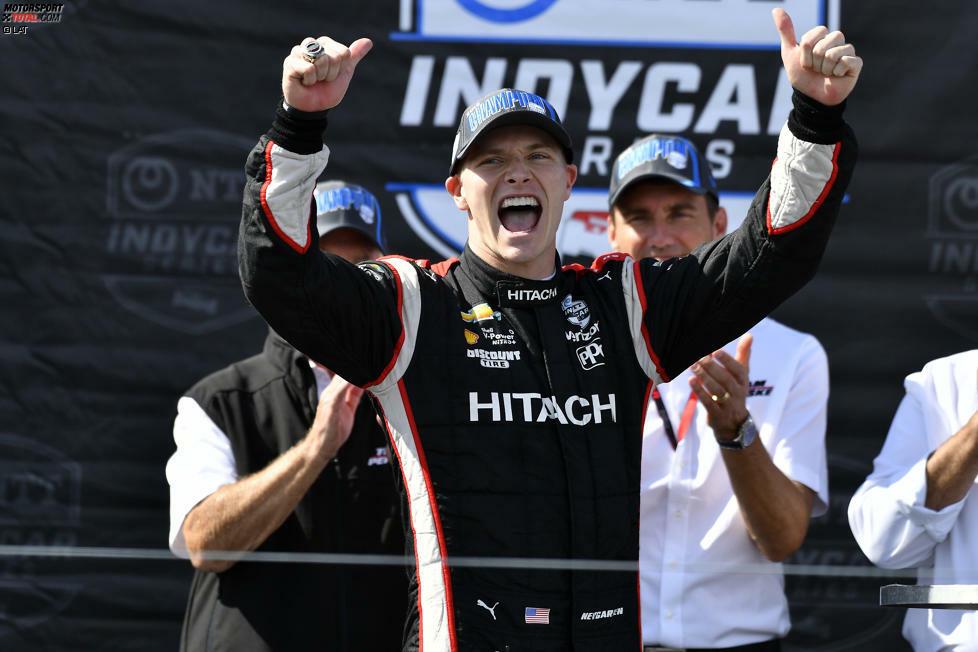 Er hat es zum zweiten Mal geschafft: Josef Newgarden (Penske-Chevrolet) hat nach 2017 zum zweiten Mal den Titel in der IndyCar-Serie geholt.