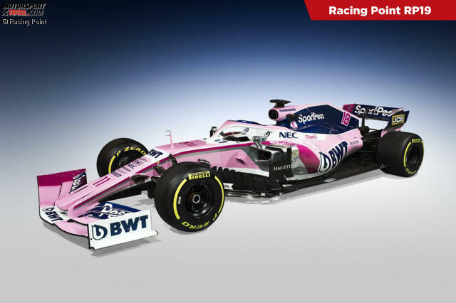 The new race point car remains in the familiar pink design. Click on the best photos: