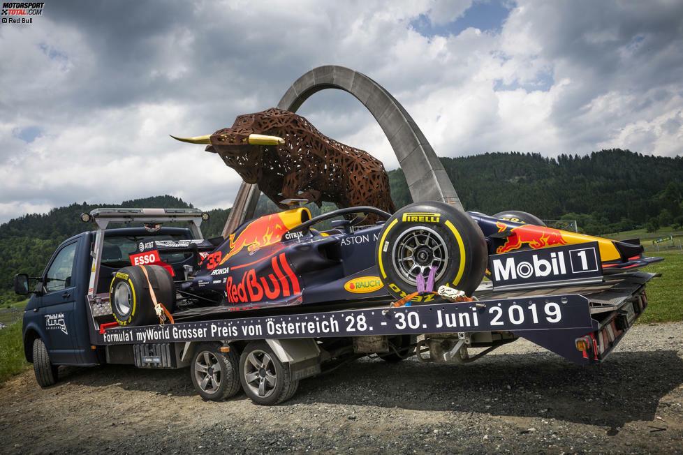 Red Bull RB15 auf Tour: Start war am 13. Juni in Spielberg, ...