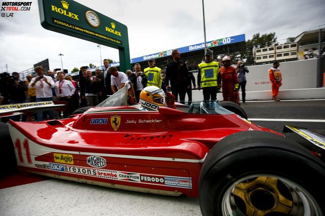 Jody Scheckter wird am Freitag in Italien eine besondere Ehre zuteil. Der Südafrikaner darf ein paar Demorunden in seinem Ferrari 312T4 drehen ...