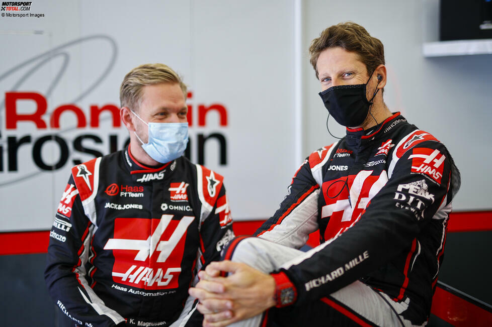 #9 - Kevin Magnussen und Romain Grosjean (Haas, 2017-2020): 77
