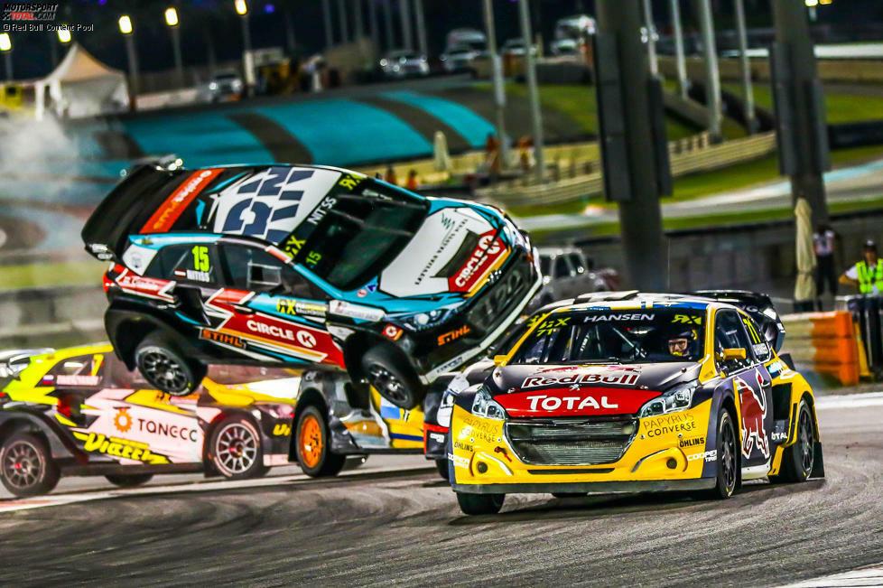 Spektakuläre Bilder beim Saisonauftakt der Rallycross-WM 2019 in Abu Dhabi.