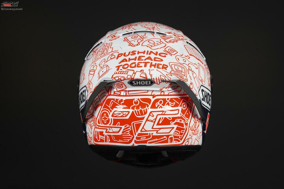 Der Helm von Marc Marquez.