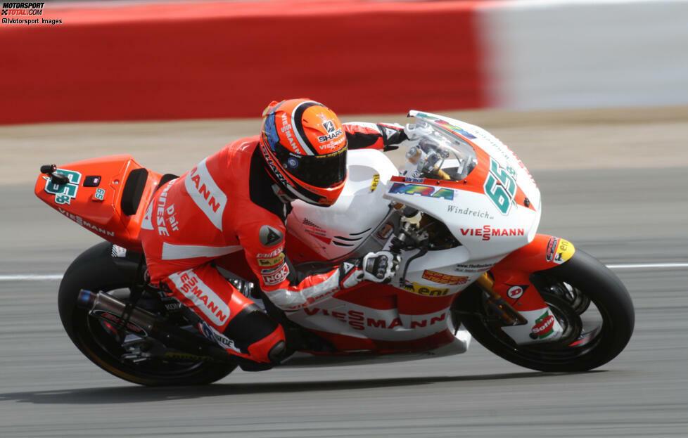 Stefan Bradl bestreitet seine erste komplette Sason 2006 in der 125er-Klasse. 2010 steigt er in die Moto2 auf, wo er sich ein Jahr später im Titelkampf gegen Marc Marquez die WM-Krone sichert.