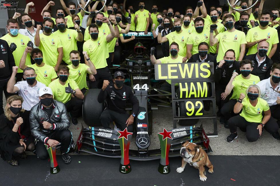 92 Formel-1-Siege für Lewis Hamilton: Da gratuliert auch die direkte Konkurrenz. Wir haben Stimmen zum neuen Siegrekord zusammengetragen!