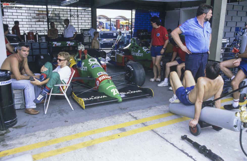 Was Herbert dem Benetton-Manager Flavio Briatore und der Teamführung verschweigt: Die Verletzungen sind noch nicht ganz ausgeheilt, Herbert hat beim Fahren noch immer teils große Schmerzen.