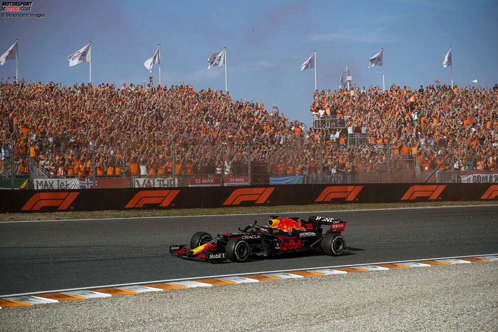 2. Red Bull - Letzter Sieg: Großer Preis der Niederlande 2021 mit Max Verstappen