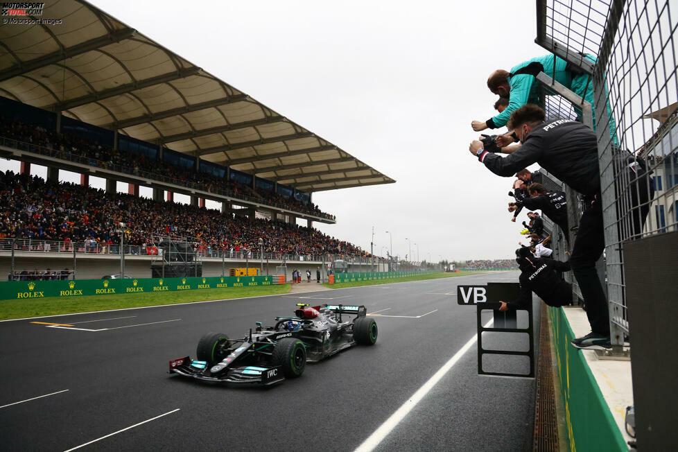 1. Mercedes - Letzter Sieg: Großer Preis der Türkei 2021 mit Valtteri Bottas