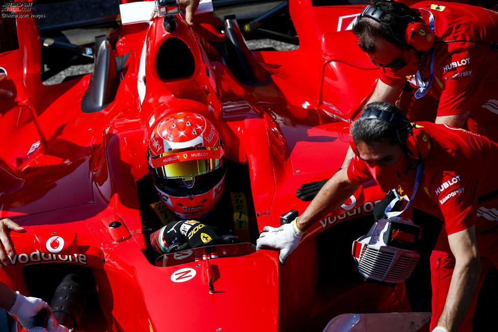 Mick Schumacher im Ferrari F2004