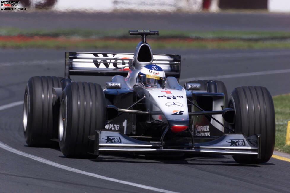 #1: Mika Häkkinen (McLaren): Als zweimaliger Weltmeister und Titelverteidiger geht der Finne in die Saison, unterliegt aber trotz vier Siegen und gleich sieben zweiten Plätzen in 17 Rennen Ferrari-Fahrer Michael Schumacher und belegt am Ende WM-Rang zwei.