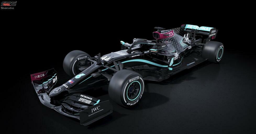 Der Mercedes W11 für die Formel-1-Saison 2020: Aus dem Silberpfeil macht die Marke kurzerhand ein schwarzes Fahrzeug. Doch Mercedes ist nicht das erste Team, das bei Formel-1-Grand-Prix auf ein mehrheitlich in Schwarz gehaltenes Auto setzt. Das zeigt unsere Fotostrecke - ohne Anspruch auf Vollständigkeit!
