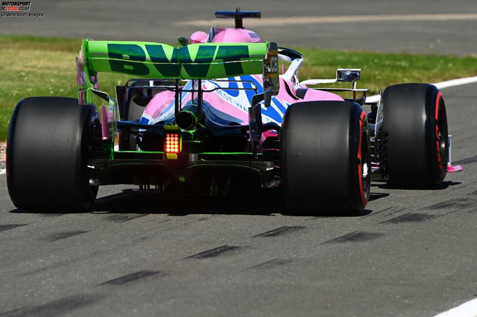 Racing Point RP20: Heckflügel mit Flow-Vis-Farbe