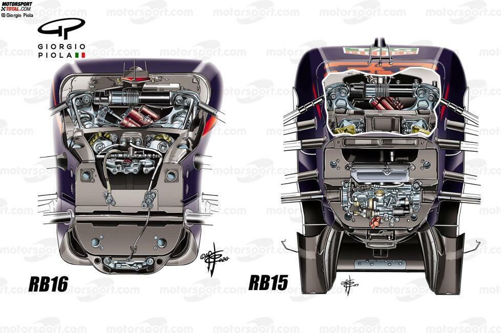 Die Aufhängung des RB16 hat sich enorm verändert: Die Lenkstangen sind deutlich weiter im Bulkhead verschwunden. Das sollte das Verhalten beim Lenken verbessern, doch das Auto ist eher bockiger geworden - vor allem bei weniger Benzin.