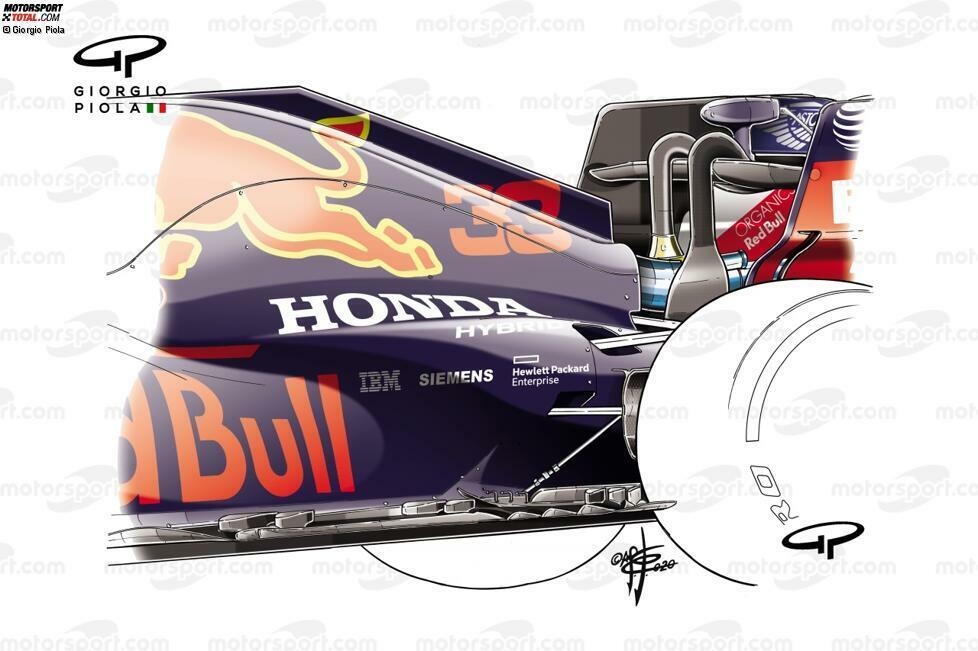 Ein neuer Unterboden mit einer Reihe Finnen kam beim Test in Silverstone zum Vorschein. Das hat die Performance des Autos sicherlich verbessert. Das heißt aber nicht, dass es nicht auch die versteckten Probleme verstärkt haben könnte.