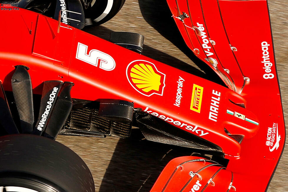 Ferrari SF1000: Frontpartie