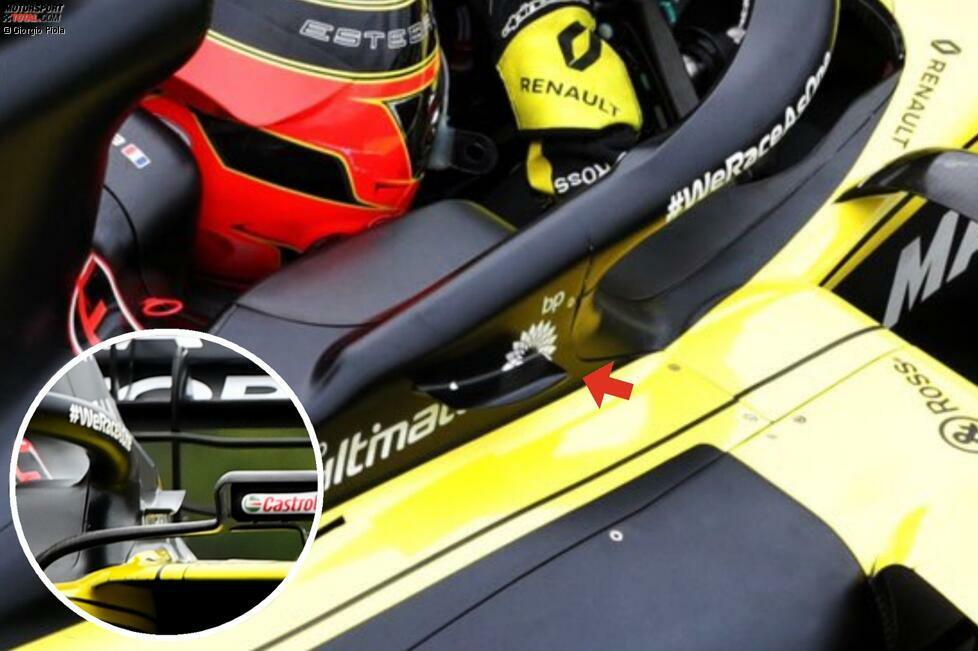Renault R.S.20: Winglet am Halo-Cockpitschutz