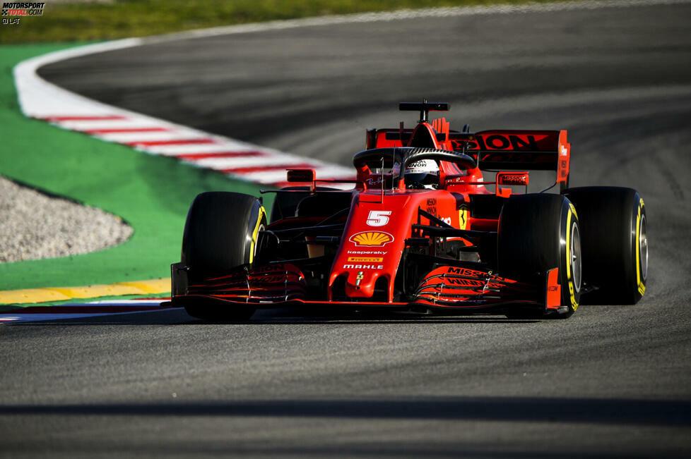 Am zweiten Tag der Formel-1-Testfahrten in Barcelona griff der viermalige Weltmeister Sebastian Vettel erstmals ins Geschehen ein. Hier sind die schönsten Bilder von Vettel im neuen Ferrari SF1000!