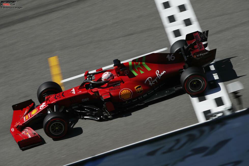 Vorne klassische Rot und hinten Burgund? Das Ferrari-Farbdesign der Formel-1-Saison 2021 versteht sich als Mix aus Gegenwart und Vergangenheit. Wie aber haben frühere Formel-1-Ferrari ausgesehen? Das zeigen wir in dieser Fotostrecke!